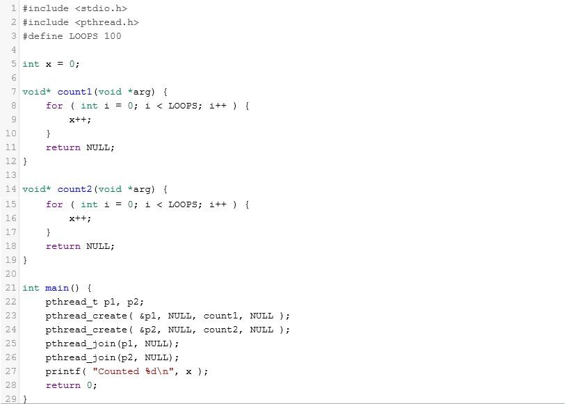 Image of C code